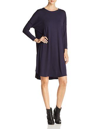 Eileen Fisher Petites - Draped Dolman-Sleeve Dress