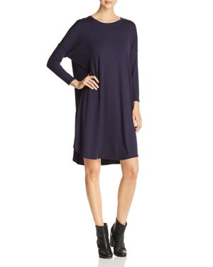 Eileen Fisher Petites Draped Dolman-Sleeve Dress