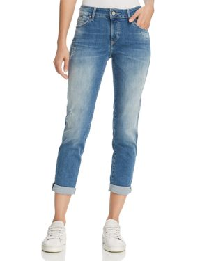 Emma Boyfriend Jeans In Indigo Ripped Nolita