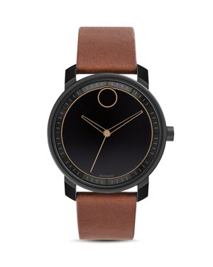 BOLD LEATHER STRAP WATCH, 41MM