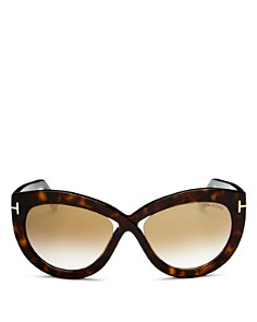 Tom Ford - Women's Diane Mirrored Cat Eye Sunglasses, 56mm
