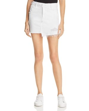 Paige Afia Denim Skirt in Crisp White - 100% Exclusive