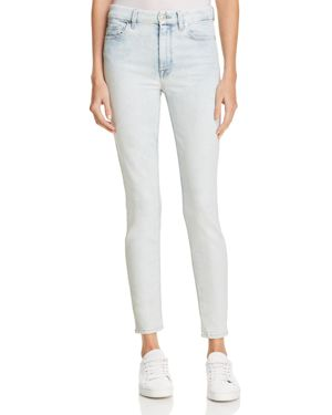 7 For All Mankind Ankle Skinny Jeans in Bleached Out 2809916