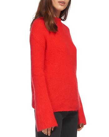 Whistles - Flared-Sleeve Chunky-Knit Sweater