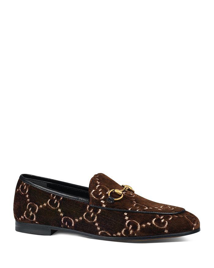 269b864aca4 Gucci - Women s New Jordaan Velvet Logo Loafers