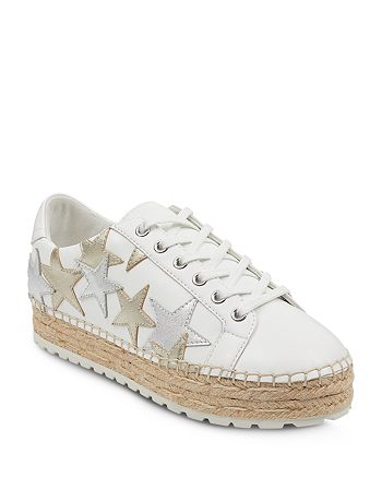 Marc Fisher LTD. - Women's Maevel Leather Lace Up Espadrille Platform Sneakers