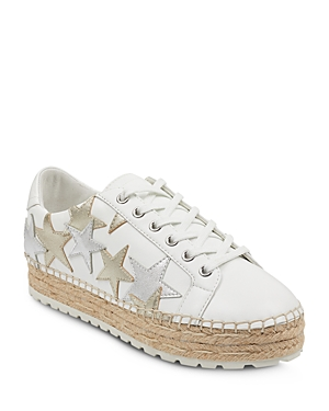 Marc Fisher Ltd. Women's Maevel Leather Lace Up Espadrille Platform Sneakers