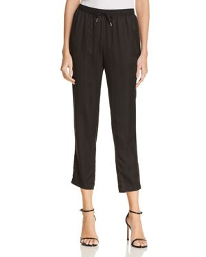 T by Alexander Wang Striped Silk Jacquard Jogger Pants