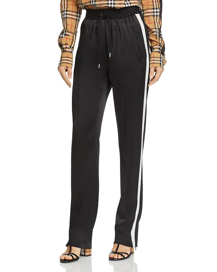 Burberry - Tanley Mulberry Silk Track Pants