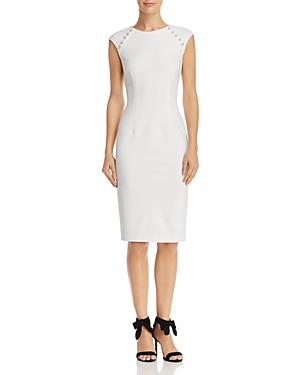 Adrianna Papell Button-Detail Sheath Dress