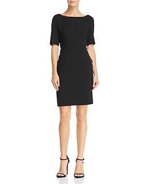 Adrianna Papell Lace-Up Sheath Dress
