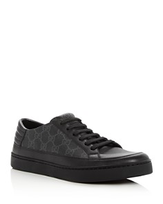 Gucci - Men's Common Canvas & Leather Lace Up Sneakers