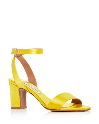 Tabitha Simmons Leticia Satin Sandals - Marigold Buy Largest Supplier The Best Store To Get Get Authentic jCr4p4