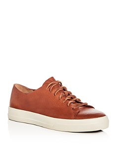 Vince - Men's Luggage Leather Lace Up Sneakers