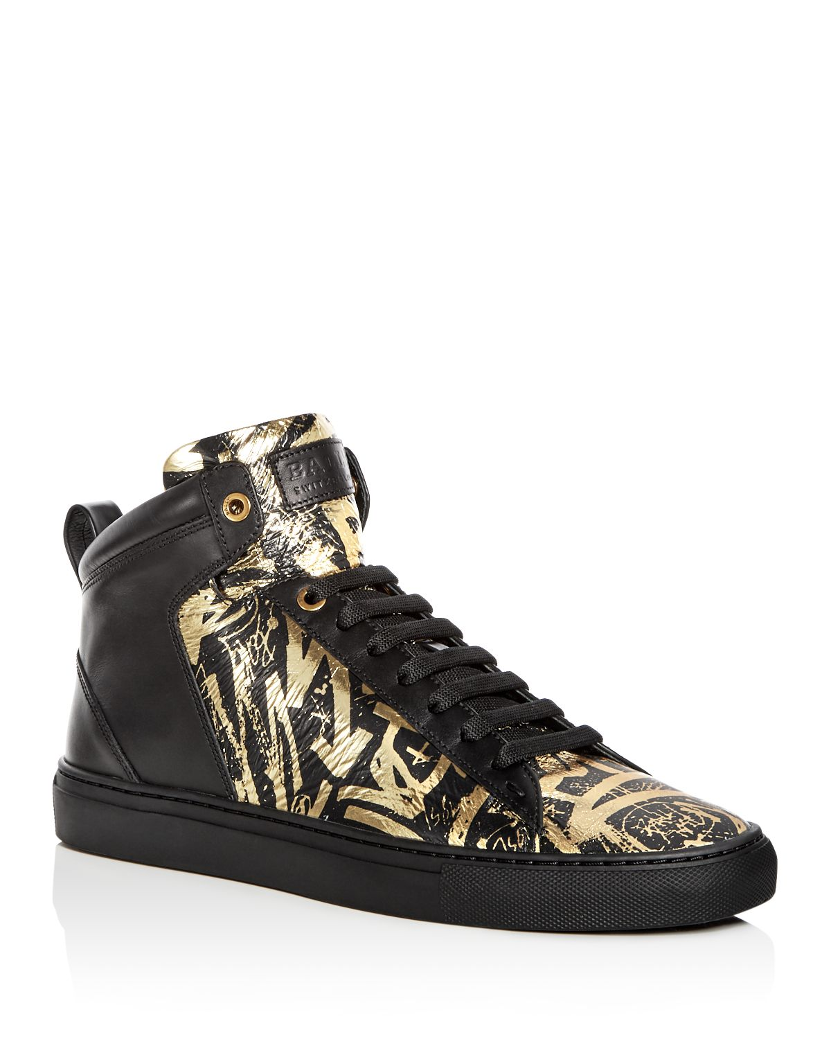 Bally Men's Hedo Leather High Top Sneakers