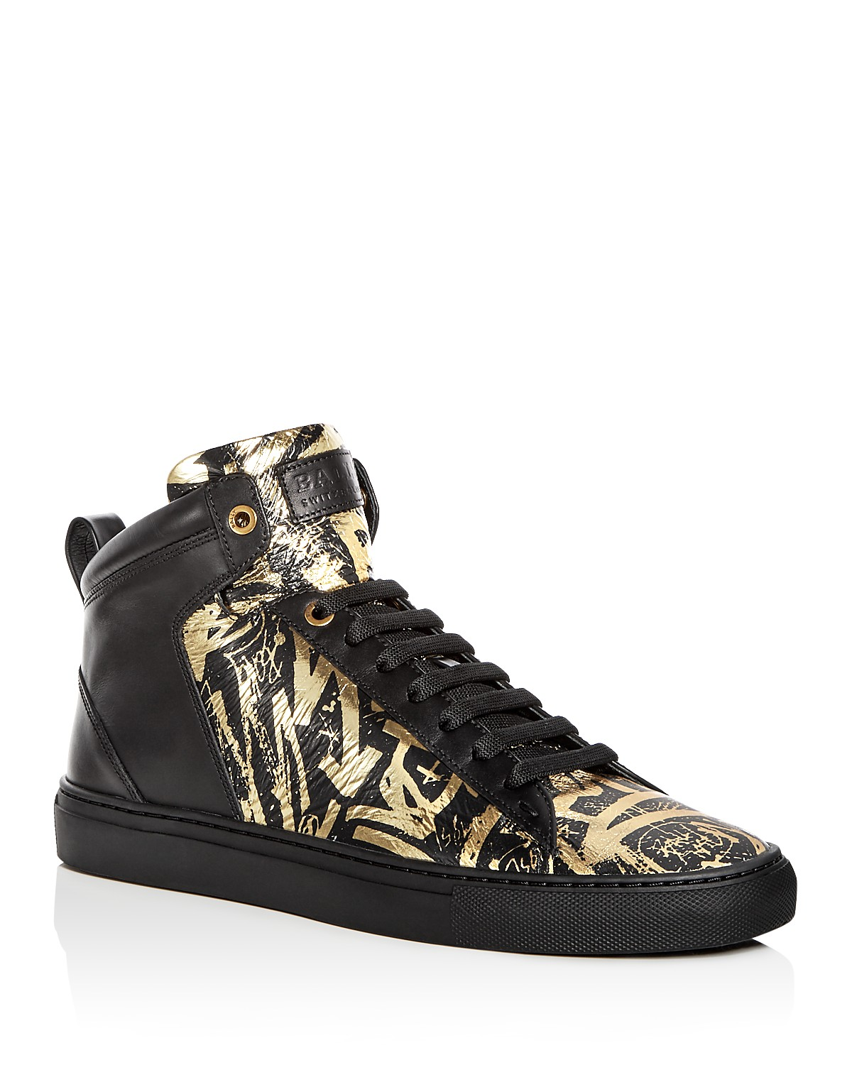 Bally Men's Hedo Leather High Top Sneakers 24AY4