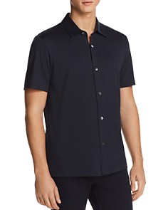 Theory - Incisive Knit Short Sleeve Button-Down Shirt