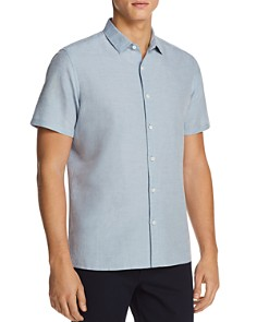 Theory Murrary Essential Short Sleeve Button-Down Shirt - Bloomingdale's_0