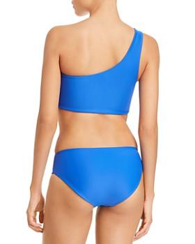 MIKOH - Hukilau Cutout One Shoulder Bikini Top & Cruz Bay Bikini Bottom