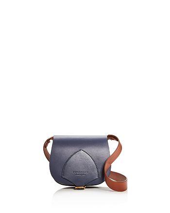 Burberry - Mini Leather Saddle Bag