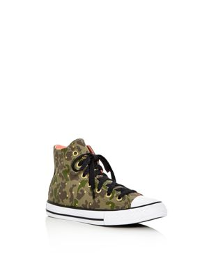 Converse Girls' Chuck Taylor All Star Camo Print High Top Sneakers - Toddler, Little Kid 2794287