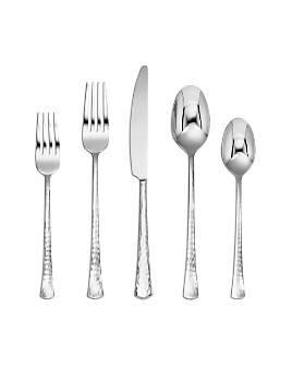 Cambridge Silversmiths - Raegan Mirror Hammered 20-Piece Flatware Set