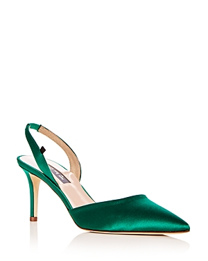 Sjp by Sarah Jessica Parker Women's Bliss Satin Slingback Kitten Heel Pumps - 100% Exclusive