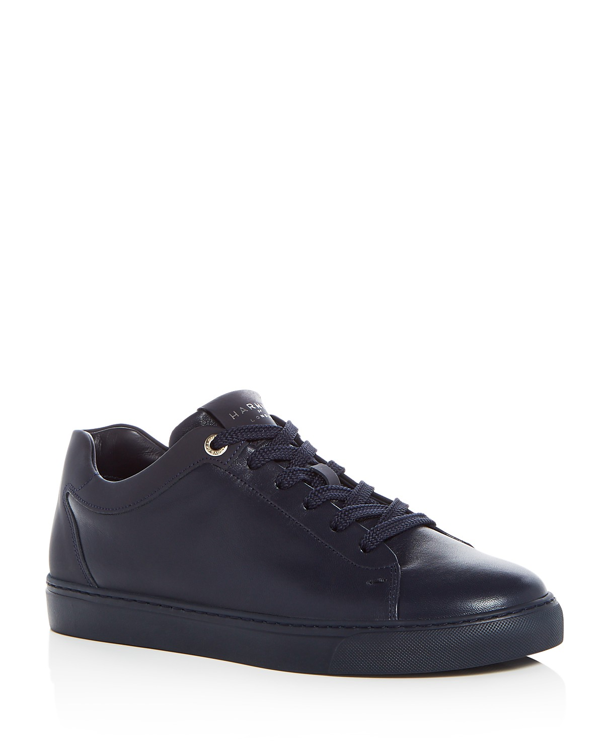 HARRYS OF LONDONMen's Tom Leather Lace Up Sneakers BLSeCI