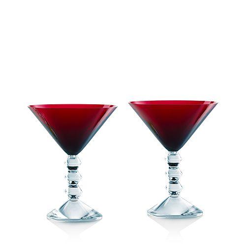 Baccarat - Vega Martini Glass Red, Set of 2