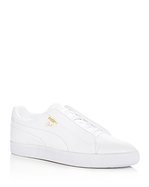 Puma Men's Clyde Leather Slip-On Sneakers