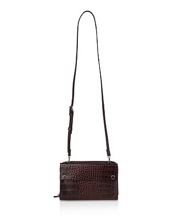 Whistles - Aubry Croc-Embossed Leather Crossbody