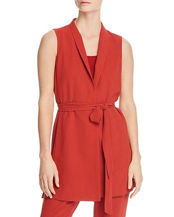 Eileen Fisher - Long Silk Wrap Vest - 100% Exclusive