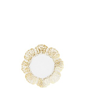 VIETRI - Rufolo Glass Gold Canape Plate