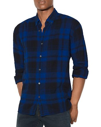 John Varvatos Star USA - Plaid Long Sleeve Button-Down Shirt