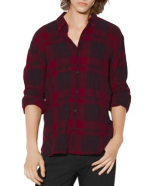 John Varvatos Star Usa Plaid Long Sleeve Button-Down Shirt