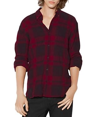 John Varvatos Star Usa Plaid Long Sleeve Button-Down Shirt