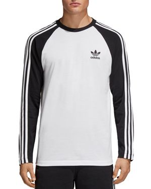 Adidas Men'S Originals Colorblocked Long-Sleeve T-Shirt, Black