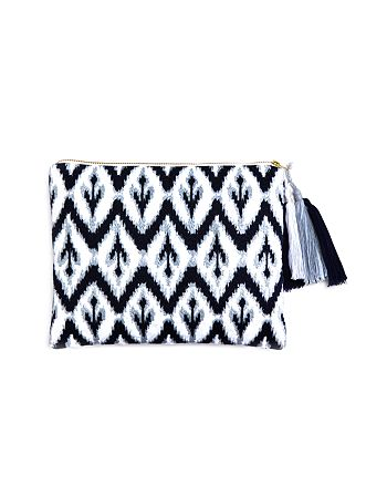 Sky - Ikat Embroidered Pouch - 100% Exclusive