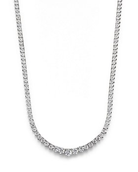 Bloomingdale's - Certified Diamond Tennis Necklace in 14K White Gold, 10.0 ct. t.w. - 100% Exclusive