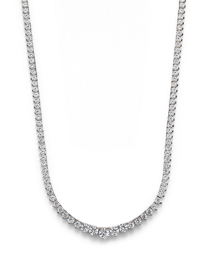 Bloomingdale's Certified Diamond Tennis Necklace in 14K