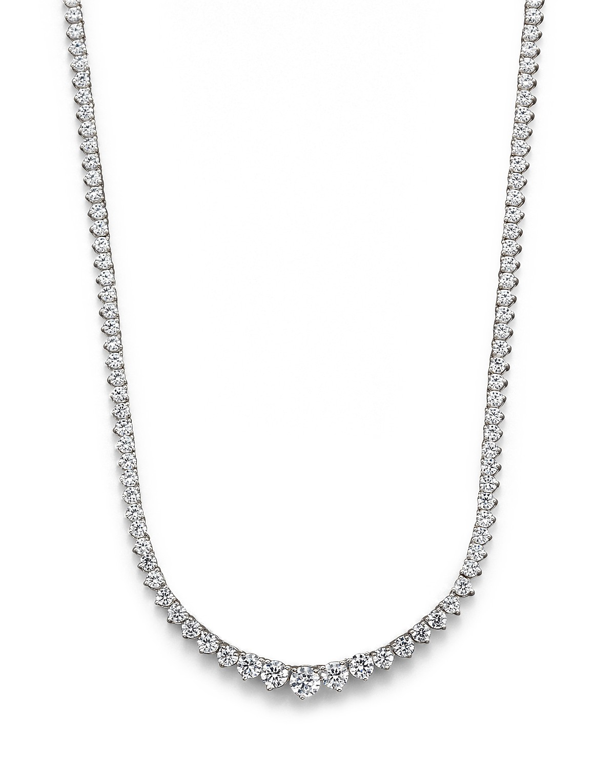 bova product diamond diamonds gold tennis necklace white