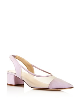 Creatures of Comfort - Women's Gloria Leather & Mesh Color-Block Slingback Pumps