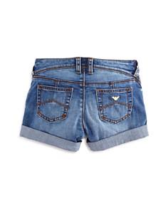 Armani Junior - Girls' Medium-Wash Denim Shorts - Big Kid