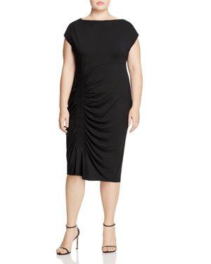 Vince Camuto Plus Side-Smocked Dress