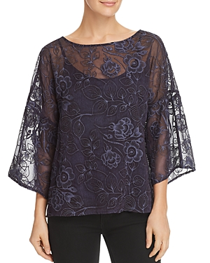 Vince Camuto Embroidered Drop-Shoulder Top - 100% Exclusive