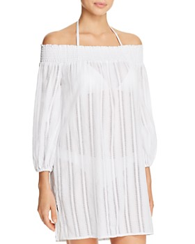 732720c37e Ralph Lauren - Dobby Smocked Off-the-Shoulder Dress Swim Cover-Up ...