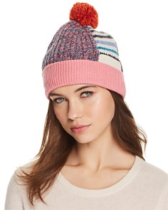 Burberry Patchwork Striped Beanie - Bloomingdale's_0