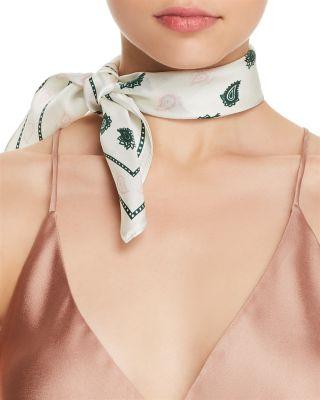 $Rebecca Minkoff Vertical Paisley Bandana Silk Scarf - Bloomingdale's