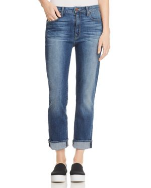 PARKER SMITH PINUP STRAIGHT CROPPED JEANS IN DARK SEA
