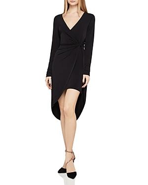 BCBGeneration Twist-Front Faux-Wrap Dress